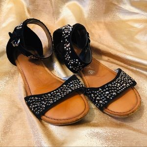 Shoes - Studded ankle strap sandals